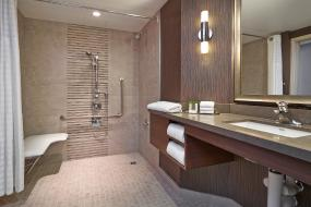 King Room - Accessible - Roll-In Shower, DoubleTree by Hilton West Edmonton