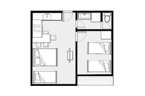 Family Suite plus Single, Barcelona Motel