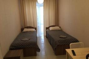 Улучшенный двухместный номер с 2 отдельными кроватями и видом на сад, SPACE Aparts and Rooms
