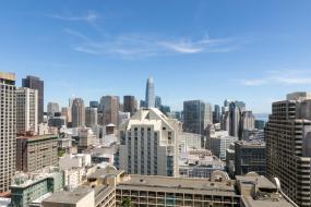 Номер с 2 двуспальными кроватями и панорамным видом на город (этажи 21–45), Hilton San Francisco Union Square