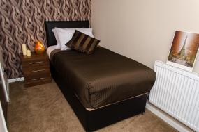 Single Room, Trivelles Hotel - Manchester - Eccles New Road