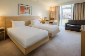 Twin Guest Room - Accessible, Hilton Northampton Hotel