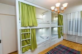 Кровать в общем 8-местном номере для женщин, Interhouse Almaty